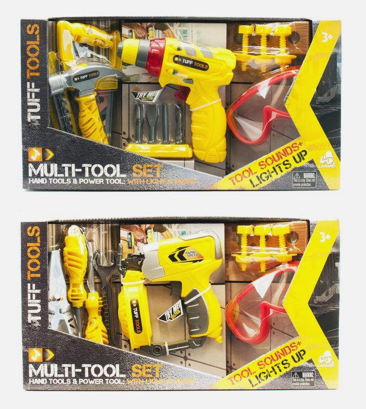 Tuff Tools Multi Tool Set Light and Sound Assorted