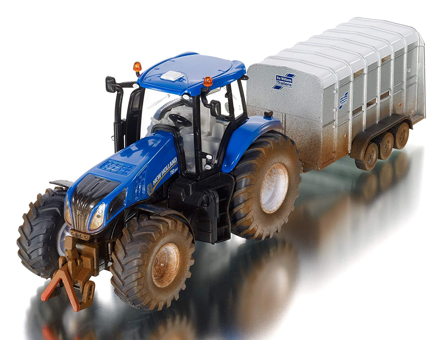 Siku 8607 New Holland Tractor With Ifor Williams Trailer