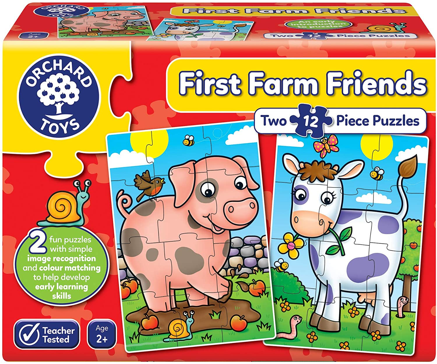 Orchard Toys First Farm Friends 2 x 12pc Puzzles