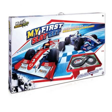 Maisto Tech R/C My First Remote Control Slot Set With Card Stand