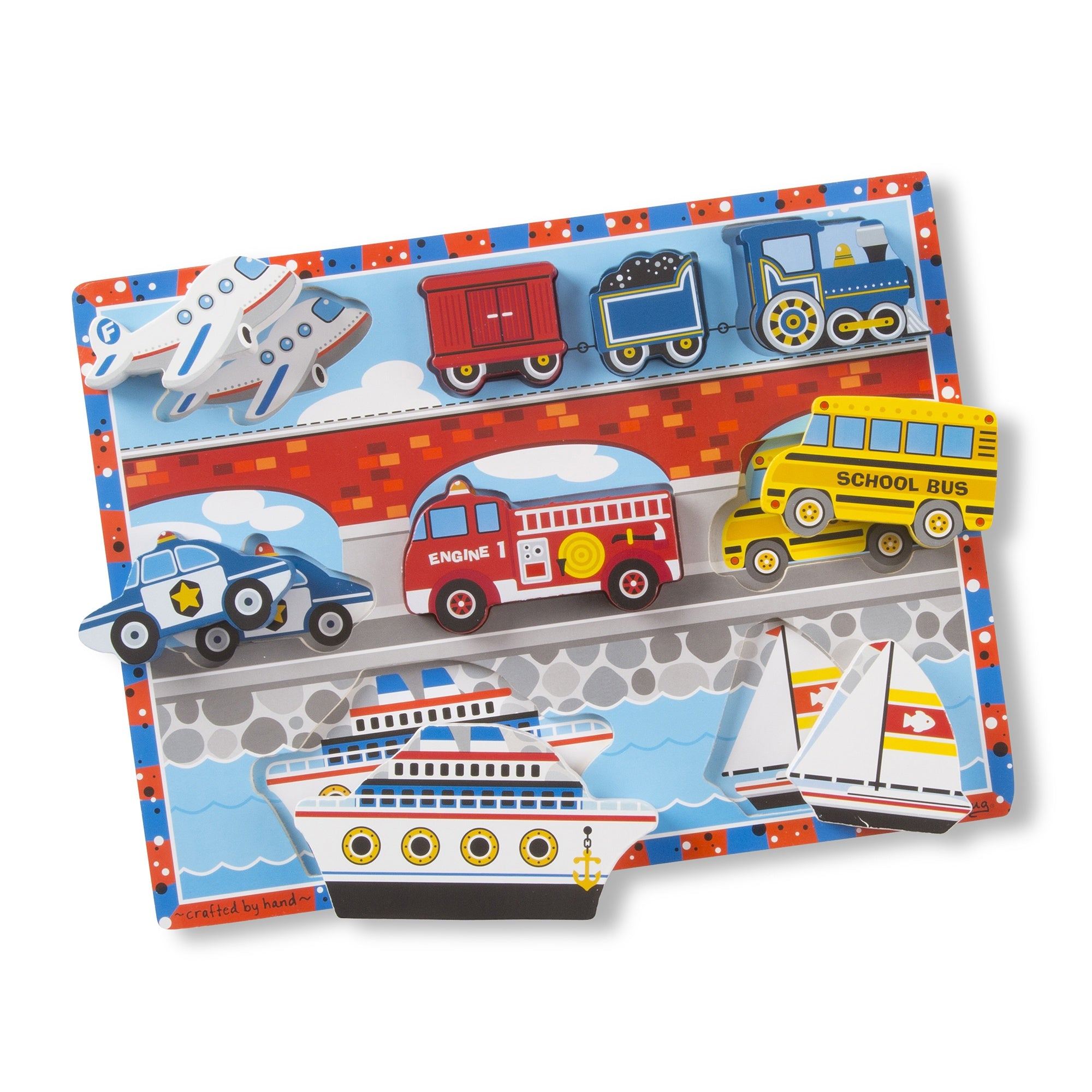 Melissa & Doug Chunky Puzzle Vehicles