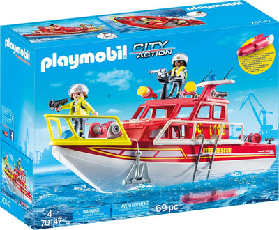 Playmobil City Life 70147 Fire Rescue Boat