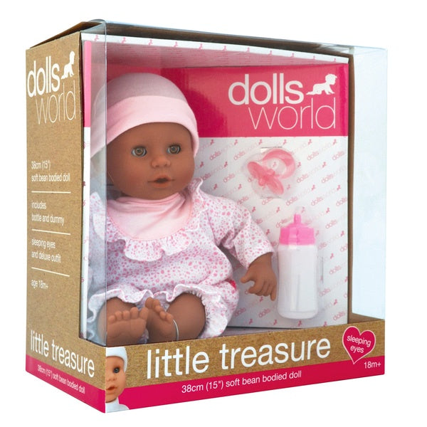 "Dolls World 15"" Soft Bodied Doll Pink"