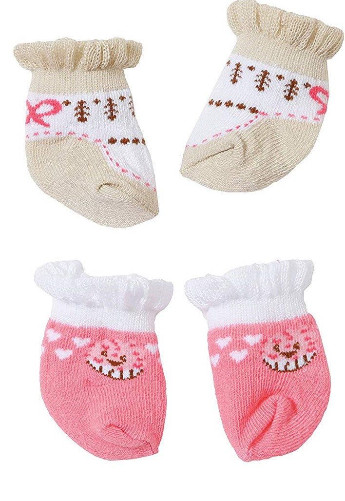 Baby Annabell Socks Pink / Beige