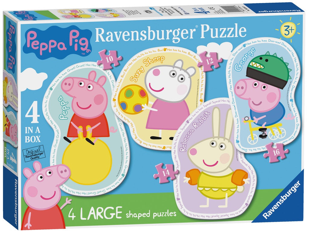 Peppa Pig 4 Large Shaped Jigsaw Puzzles