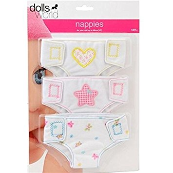 Dolls World Fabric Nappies