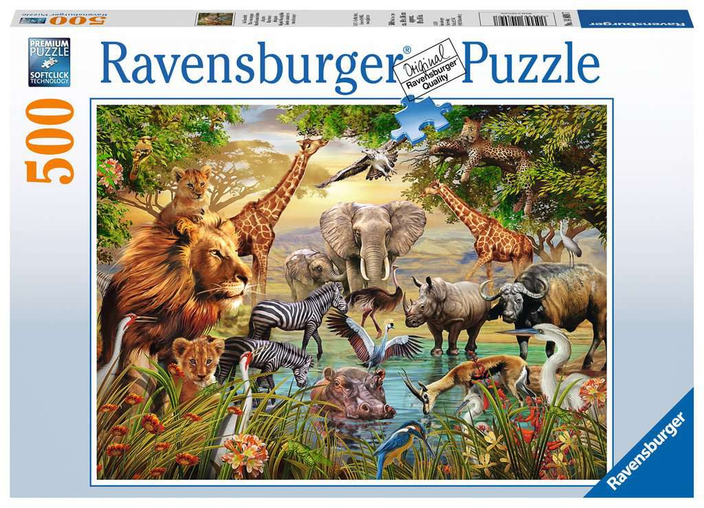Ravensburger Majestic Watering Hole 500pc Jigsaw Puzzle