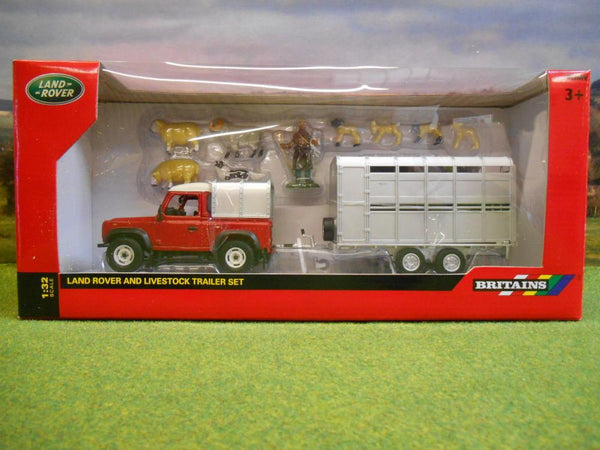 Britains 43138A1 Land Rover and Livestock Trailer Set 1:32
