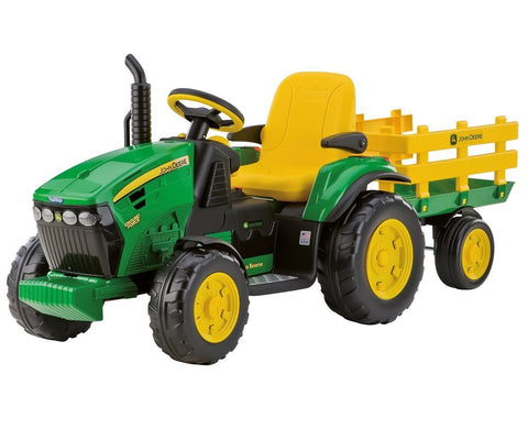 John Deere 12V Electric Tractor Ride On With Trailer