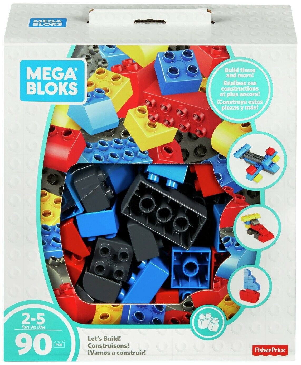 Mega Bloks 90pc Jumbo Box Multicoloured