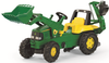Rolly John Deere Tractor With Back Hoe & Front Loader