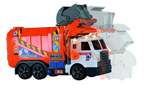 Dickie Toys Garbage Truck Light & Sound Orange