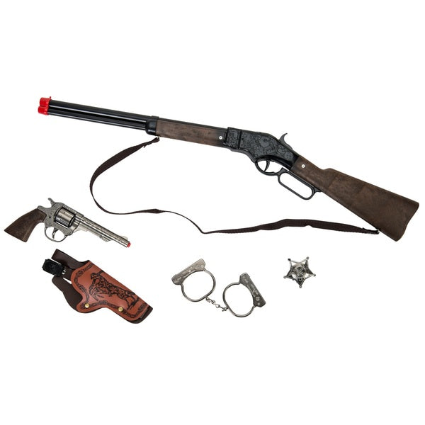 Gonher Cowboy Rifle & Pistol Playset 8 Shot
