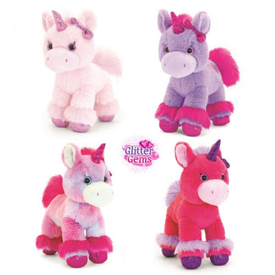 Keel Glitter Gem Soft Unicorn Assorted 30cm