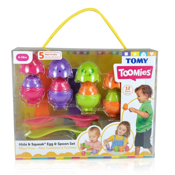 Tomy Toomies Hide And Squeak Egg And Spoon Set