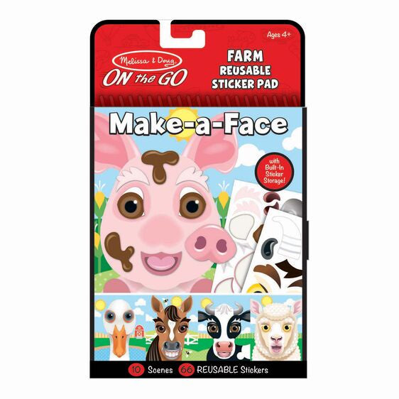 Melissa & Doug On The Go Make A Face Farm Sticker Book