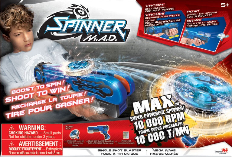 Spinner M.A.D Single Shot Blaster Mega Wave