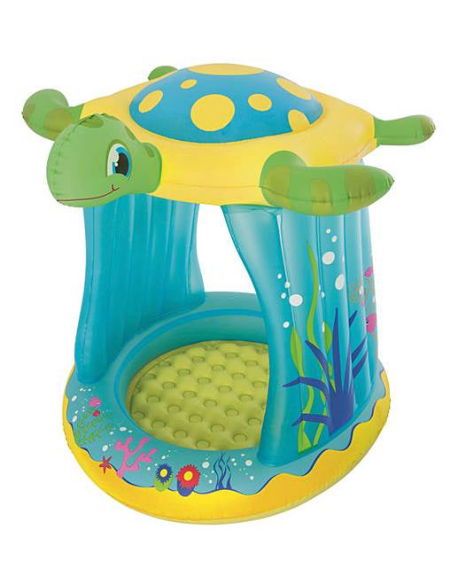 Bestway Turtle Totz Play Pool with Sunshade