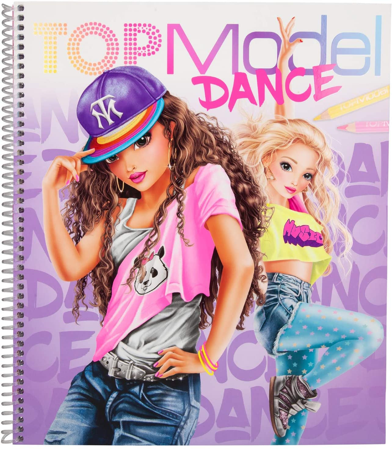 TOPModel Dance Colouring Book