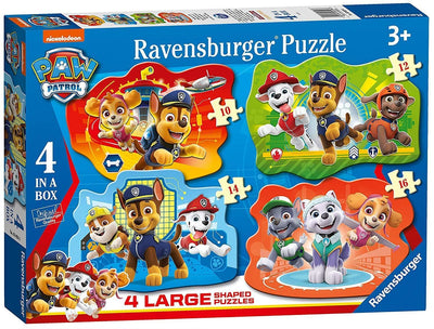 Paw Patrol 4 In A Box Large Shaped Jigsaw Puzzles