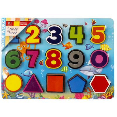 Wood Works Numbers Chunky Puzzle
