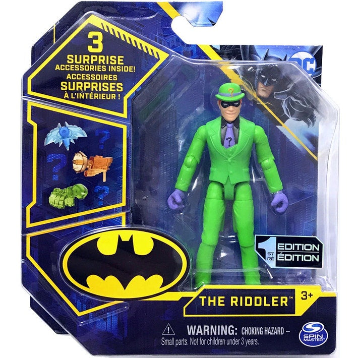 Batman 10cm Riddler Figure With 3 Mystery Accessories