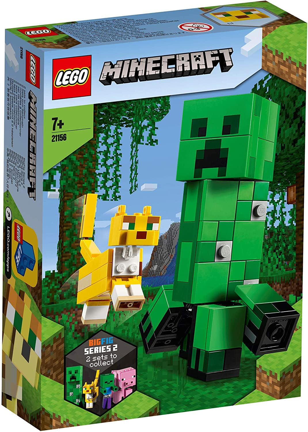 Lego Minecraft 21156 Big Fig Creeper And Ocelot