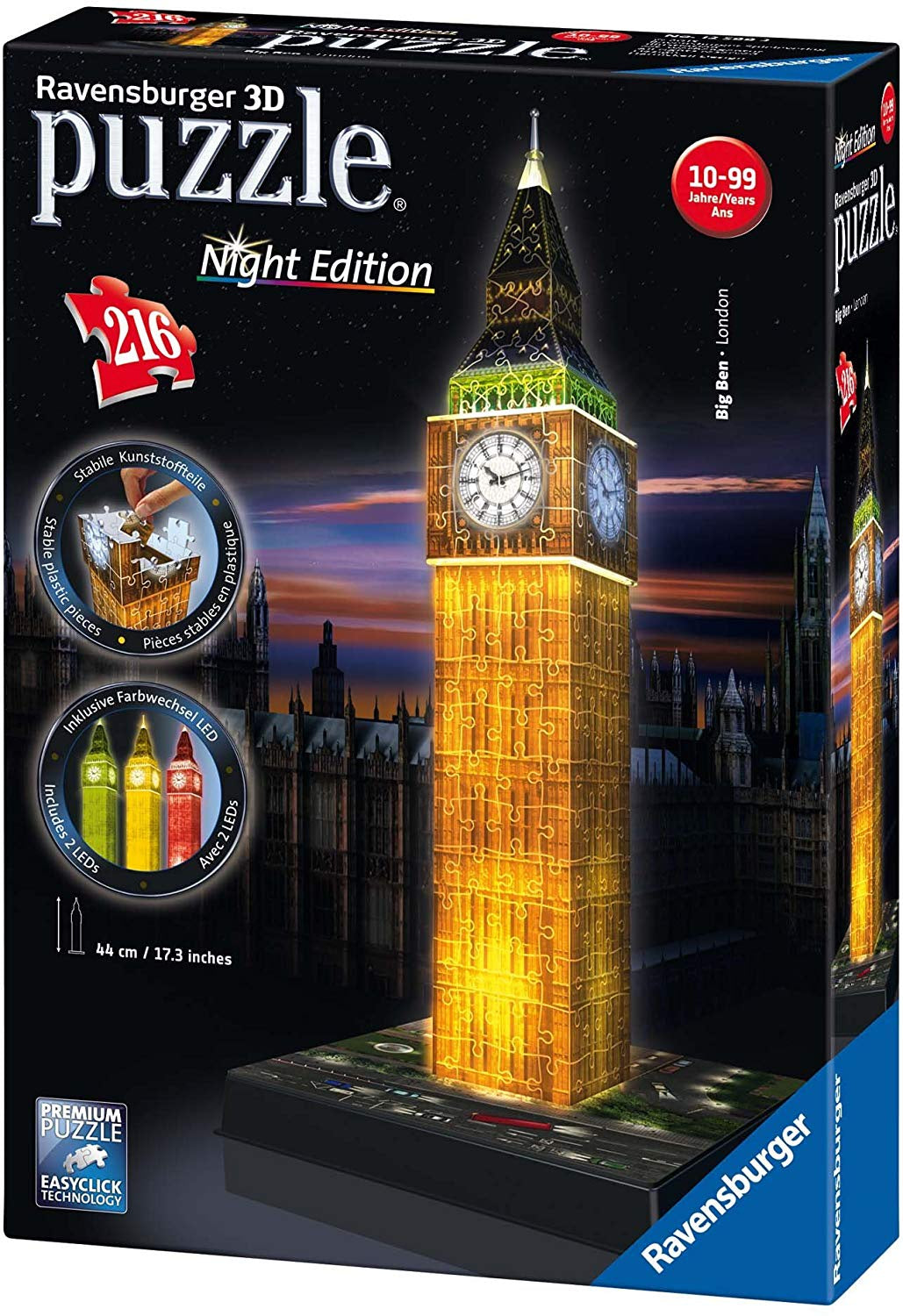 Ravensburger Big Ben 3D Jigsaw Puzzle Night Edition