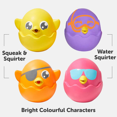 Tomy Toomies Hide And Squeak Squirters Bath Toy