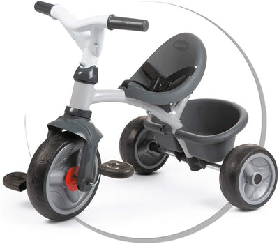 Smoby Baby Driver Tricycle Grey