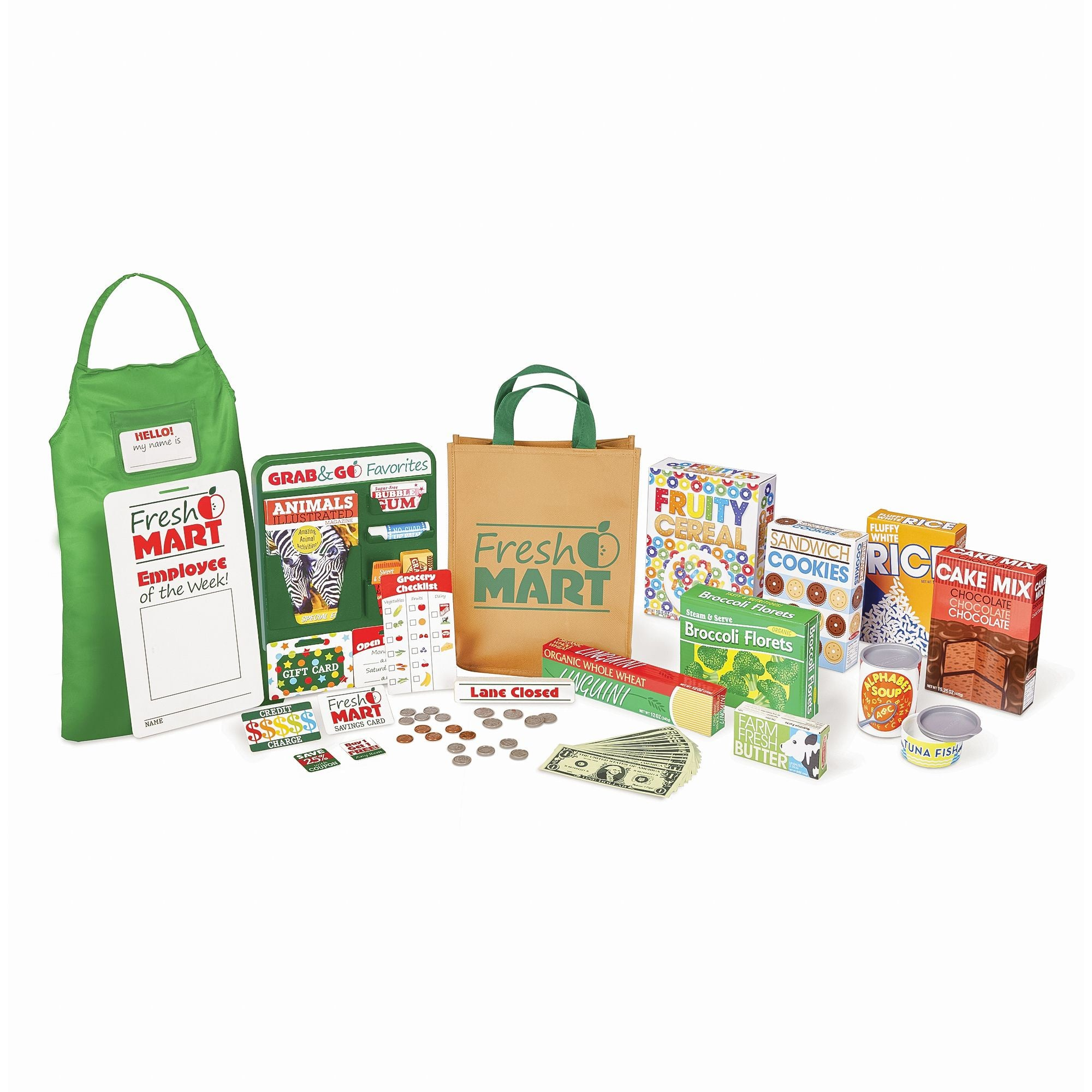 Melissa & Doug Fresh Mart Grocery Store Companion Set