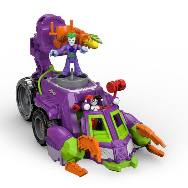 Imaginext DC Super Friends The Joker And Harley Quinn Battle Vehicle