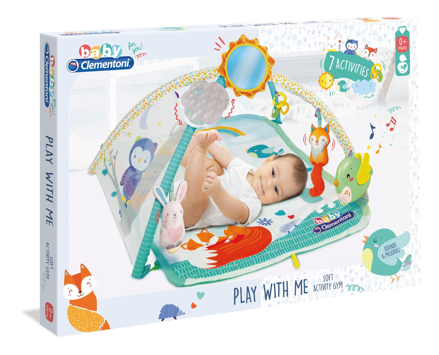Baby Clementoni Play with Me Soft Activity Gym