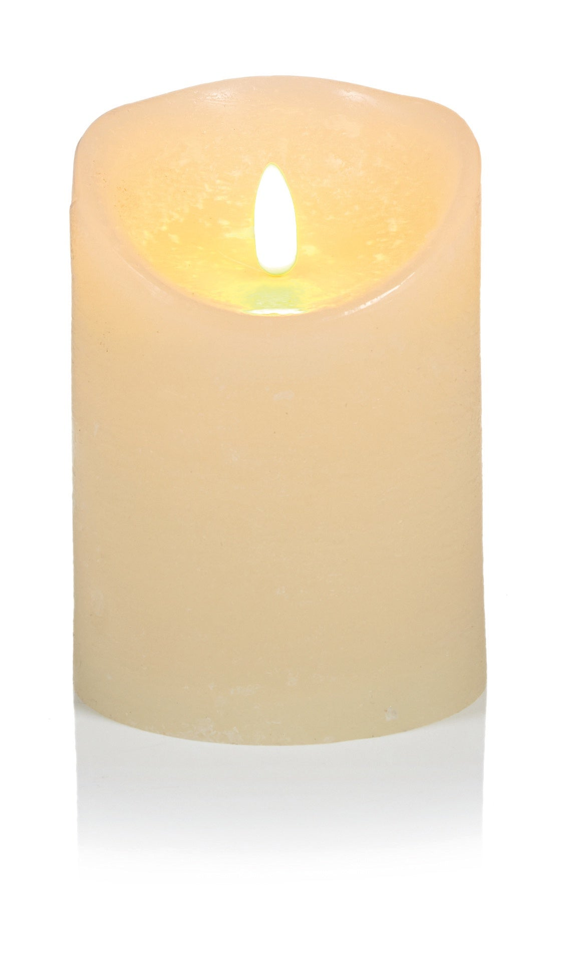 13x9cm Cream Flickerbright Textured Candle