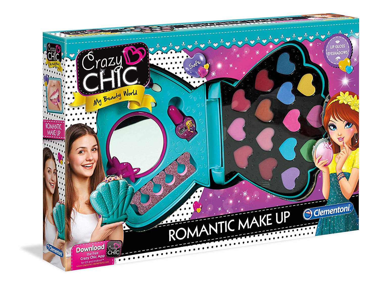 Clementoni Crazy Chic Romantic Make Up Playset
