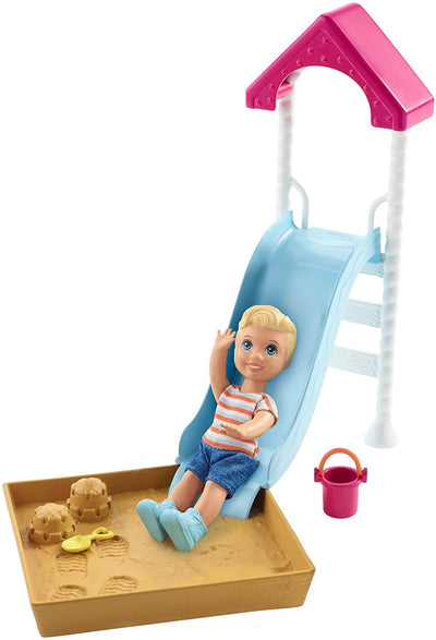 Barbie Skipper Babysitters Inc Small Slide And Sandbox Playset