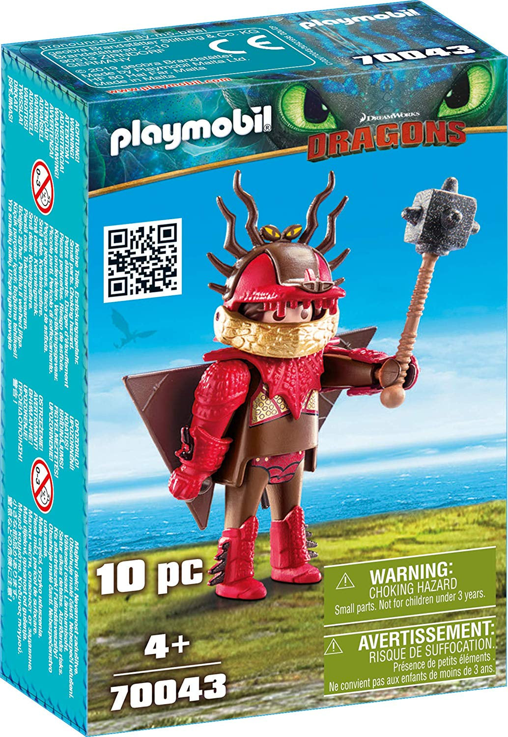 Playmobil Dreamworks Dragons 70043 Snotlout With Flight Suit