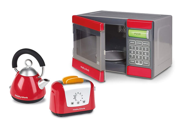 Casdon Little Cook Morphy Richards Microwave Kettle & Toaster Set