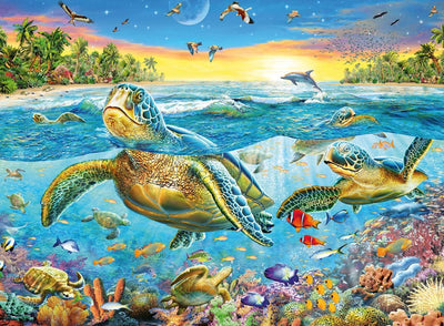 Ravensburger XXL Swim With Sea Turtles 100pc Jigsaw Puzzle