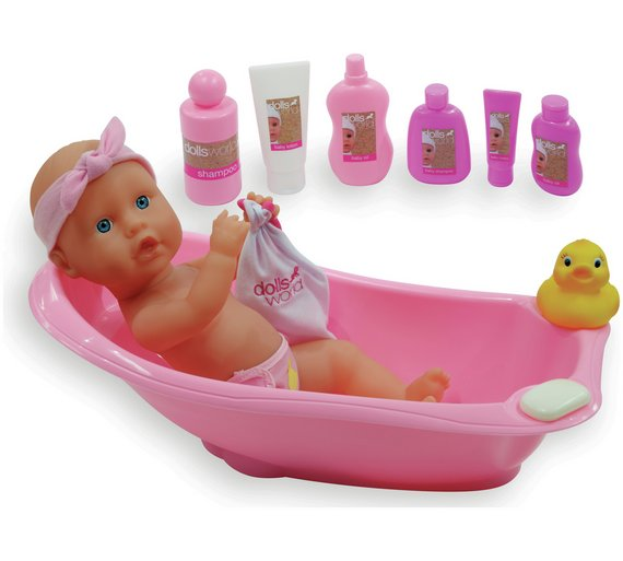 Dolls World Bathtime Set With Doll
