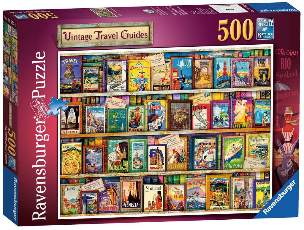Ravensburger Vintage Travel Guides 500pc Jigsaw Puzzle