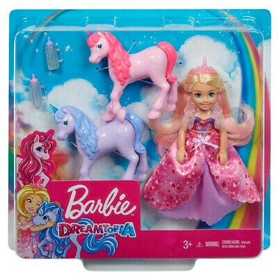 Barbie Dreamtopia Chelsea Princess With 2 Baby Unicorns