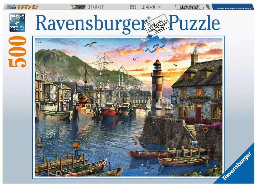 Ravensburger Sunrise At The Port 500pc Jigsaw Puzzle