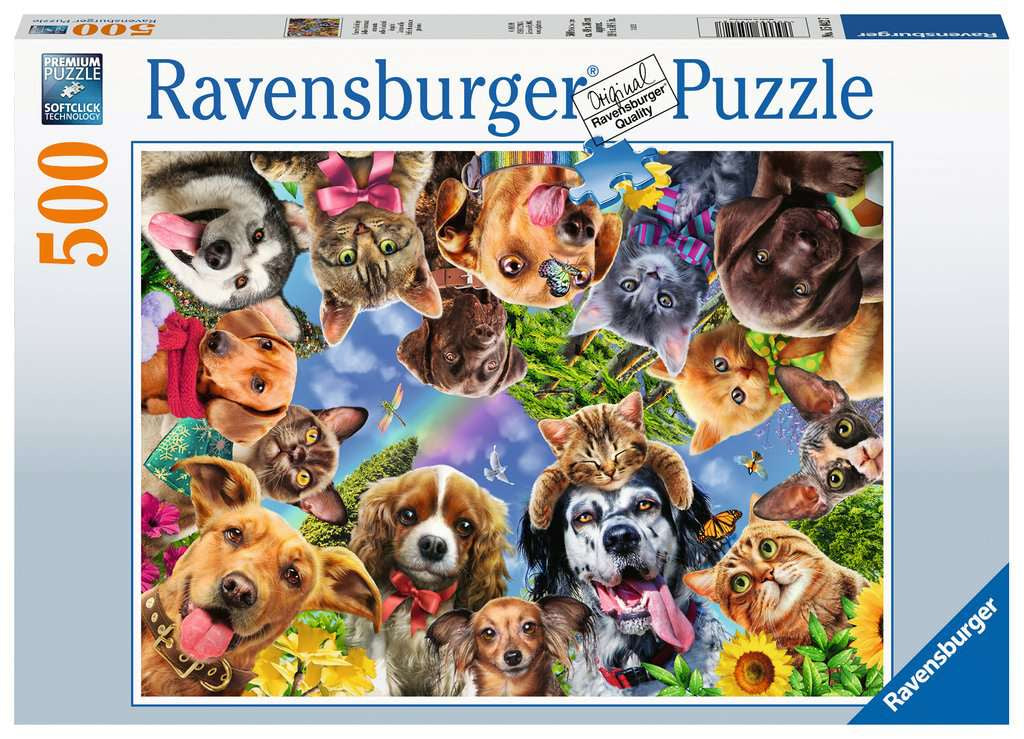 Ravensburger Animal Selfie 500pc Jigsaw Puzzle