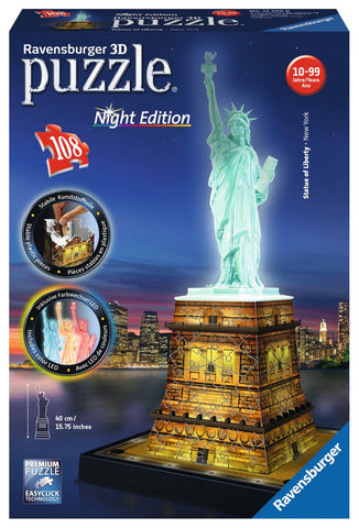Ravensburger Statue of Liberty 3D Jigsaw Puzzle Night Edition