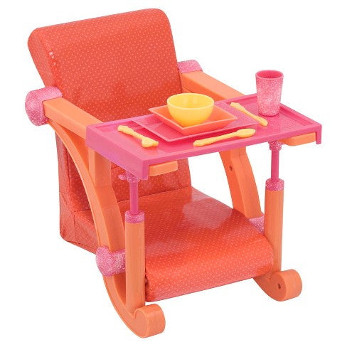 Our Generation Let's Hang Clip on Chair Orange Spots