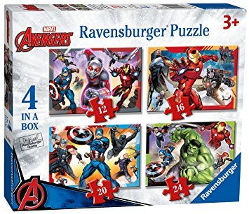 Marvel Avengers 4 In A Box Jigsaw Puzzle