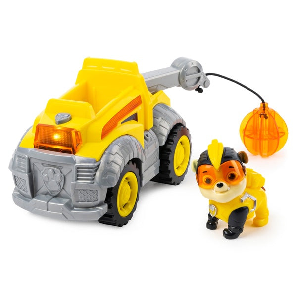 Paw Patrol Mighty Pups Super Paws Rubble Deluxe Vehicle