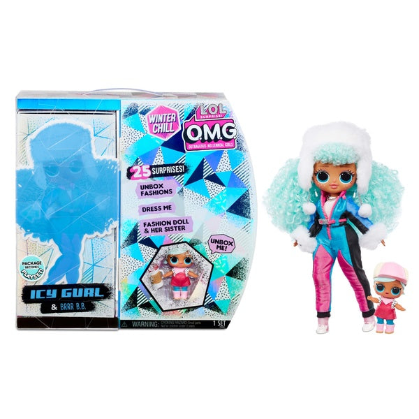 LOL Surprise! O.M.G Winter Chill Icy Gurl And Brr B.B Doll With 25 Surprises
