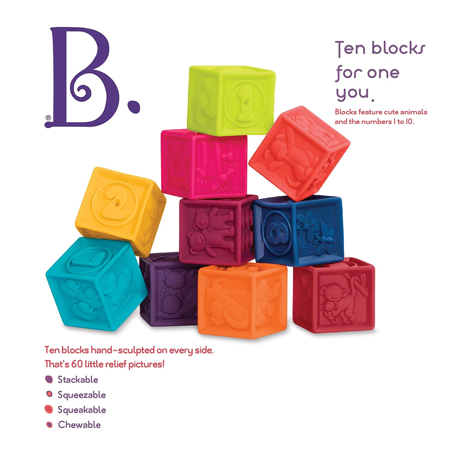 B. One Two Squeeze Block Set
